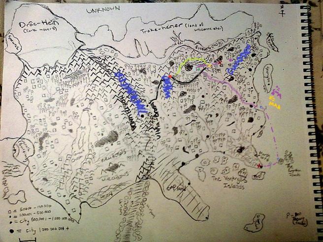 Rough Map of Duchess of Dark Mercies